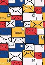Moderne Tapete mit Briefumschläge bunt der Castelbajac Popier Peint 36140502