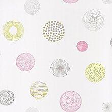 Moderne Tapete mit Punkten entworfen in Texture