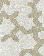 Moderne Tapete Sand und grau Pearl mit Position Abstrakt mattglänzend Clover–331040