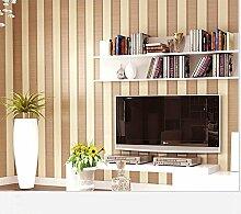 Moderne Tapete vertikalen Streifen Glitzer-Wandbild Wand, Rolle für Wohnzimmer Schlafzimmer Wanddekoration mediterraner Stil vertikalen Streifen Vliestapete messing