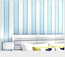 Moderne Tapete vertikalen Streifen Glitzer-Wandbild Wand, Rolle für Wohnzimmer Schlafzimmer Wanddekoration mediterraner Stil vertikalen Streifen Vliestapete blau