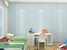 Moderne Tapete vertikalen Streifen Wandbild Wand, Rolle für Wohnzimmer Schlafzimmer Wanddekoration mediterraner Stil vertikalen Streifen Vlies Farbe Tapete blau