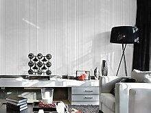 Moderne Tapete vertikalen Streifen Wandbild Wand, Rolle für Wohnzimmer Schlafzimmer Wanddekoration mediterraner Stil vertikalen Streifen Vlies Farbe Tapete grau