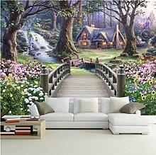 Moderne Tapete Waldgarten Fototapete Kinderzimmer