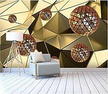 Moderne Tapeten Abstrakte Goldene Silber Geometrie