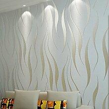 Moderne Tapeten Art Deco 3D Einfache moderne Tapete Wand Vlies Wall Art, Hellgrau