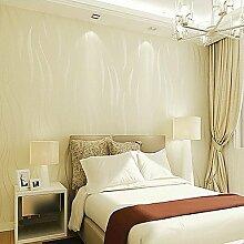 Moderne Tapeten Art Deco 3D Einfache moderne Tapete Wand Vlies Wall Art, Reis weiß