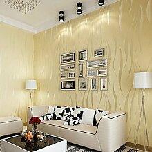 Moderne Tapeten Art Deco 3D Einfache moderne Tapete Wand Vlies Wall Art, Gelb