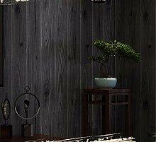 Moderne Tapeten Holz Schwarz Tapete 3D für