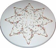 moderne Tischdecke STERN 87x87 cm Weihnachten PLAUENER SPITZE® Mehrfarbig Christmas DAY Spitzendecke (Stern 87 cm)
