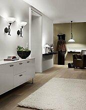 Moderne Tischleuchte (Schale, Metallverzierungen,