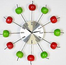Moderne Uhr Apple rot / grün Wanduhr