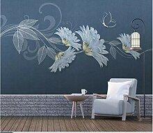 Moderne unbedeutende Tapeten-Wandfarbe 3D lässt