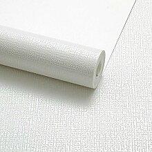 Moderne und einfache Farbe Tapete Uni Vliestapete Leinen Rolle für Wohnzimmer Schlafzimmer TV Hintergrund Wand 0,53m (52,8cm) * 10Mio. (32,8') M = 5.3sqm (M³), Only the wallpaper, M white 62001