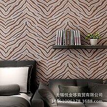 Moderne und einfache Vliestapete Mode ripple 3D Anaglyph Beflockung Sub gold Schlafzimmer Wohnzimmer Wand zu Wand Tapete , 88052 silver