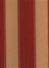 Moderne und elegante Tapete aus Vinyl mit Relief gerillt von Farben rot bordeaux gestreift mit feine Nuancen und goldenen Streifen Effekt Stoff. Hohe Qualität 'und perfekte abwaschbar' Ornamenta 95215