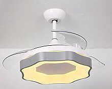 Moderne Ventilator-Licht 42 Zoll Smart Remote