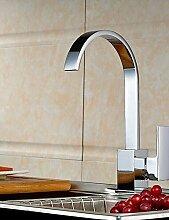 Moderne verchromten Kupfer Wasserfall Waschbecken Wasserhahn Wasserhahn - Silber