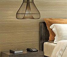 Moderne Vliestapete Streifen minimalistische Country Luxus Tapete, Rolle für Wohnzimmer Schlafzimmer TV Hintergrund Esszimmer Tapete 0,53m (52,8cm) * 10Mio. (32,8') M = 5.3sqm (M³), Light coffee color, 0.53m*10m