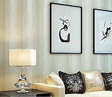 Moderne Vliestapete Streifen minimalistische Country Luxus Tapete, Rolle für Wohnzimmer Schlafzimmer TV Hintergrund Esszimmer Tapete 0,53m (52,8cm) * 10Mio. (32,8') M = 5.3sqm (M³), beige, 0.53m*10m