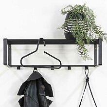 Moderne Wandgarderobe in Schwarz Stahl