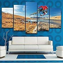 Moderne Wandkunst Bilder Rahmen Wohnzimmer 5 Panel