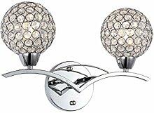 Moderne Wandlampe Kristall Kugel Wandleuchte