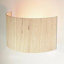 Moderne Wandleuchte Holz 1x E27 bis zu 60 Watt