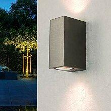 Moderne Wandleuchte in silber GU10 Wandlampe aus