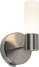 Moderne Wandleuchte Stahl inkl. LED IP44 - Dilan