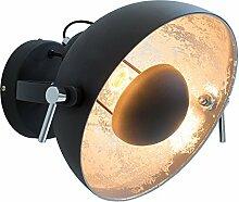 Moderne Wandleuchte STUDIO schwarz gold Lampe mit