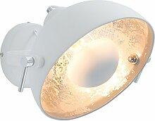 Moderne Wandleuchte STUDIO weiß silber Lampe mit