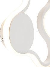 Moderne Wandleuchte weiß inkl. LED - Plomp