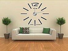 Moderne Wanduhr Design Wandtattoo Dekoration Uhren Spiegel Geschenk MAX3
