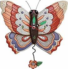 Moderne Wanduhr mit Quartzwerk, batteriebetrieben Allen Design -Butterfly- P1604