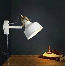 Moderne weiße Wand Lampe mit Stecker Netzkabel