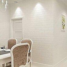 Moderne weiße Ziegel Tapeten geometrische Wandverkleidung aus PVC/Vinyl Wall Ar