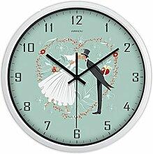 Moderne Wohnzimmer Garten Wanduhr rund um kreative Persönlichkeit/ amerikanische Schlafzimmer Uhr-Q 10Zoll