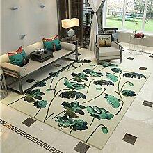 Moderne Wohnzimmer rutschfeste leicht zu reinigen Teppich Mode Schlafzimmer Korridor faltbare große Teppiche ( Farbe : Beige , größe : 140×200cm )