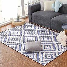 Moderne wohnzimmer sofa couchtisch teppich schlafzimmer nacht teppich / home gitter diamant teppich ( größe : 110*180cm )