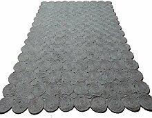 Moderne Wolldecke/Nähen mit der Hand Teppich-V 170x240cm(67x94inch)
