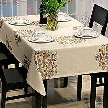 Modernen chinesischen Stil Esstisch Tuch Wohnzimmer Jacquard Couchtisch Tischdecke Einfache ländliche Rechteck TV-Schrank Tischdecke Größe 135 * 240cm , 100*135cm