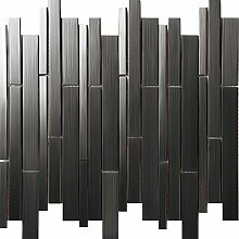 Modernen Stil Liner Streifen Edelstahl Silber