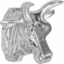 Moderner Aluminium Kuhkopf Wanddekoration Silber |