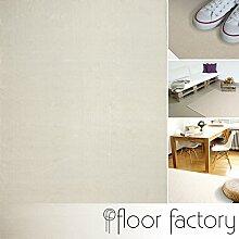 Moderner Baumwoll Teppich Living beige 140x200cm -