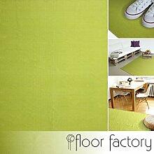 Moderner Baumwoll Teppich Living grün 140x200cm -