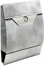 Moderner Design Briefkasten V2 Silbergrau