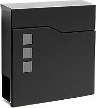 Moderner Design Briefkasten V20 Schwarz
