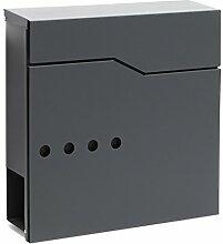 Moderner Design Briefkasten V22 Anthrazit