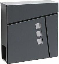 Moderner Design Briefkasten V24 Anthrazit